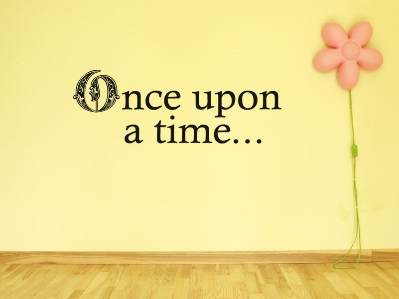 Child s Wall Quote Once Upon A Time Wall Art Sticker Vinyl Decal ...
